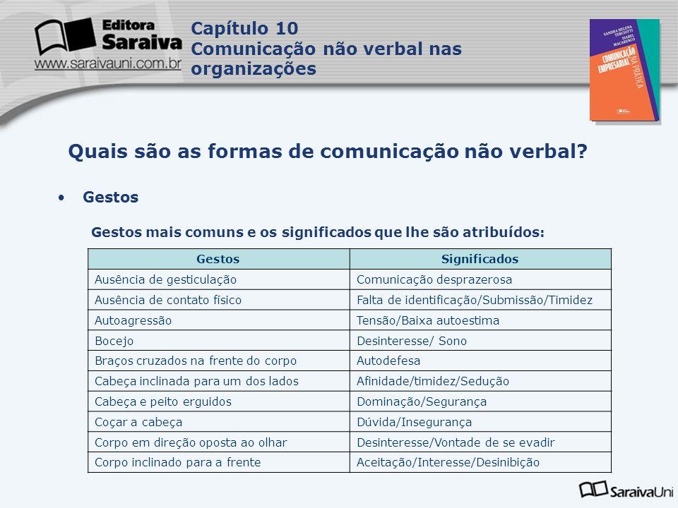 Quais são as formas de comunicação não verbal