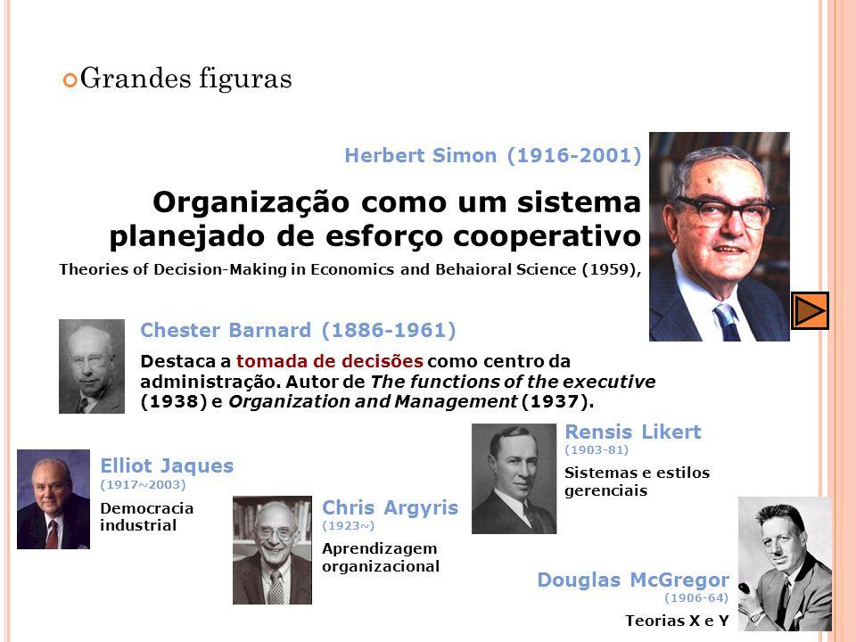 Organização como um sistema planejado de esforço cooperativo