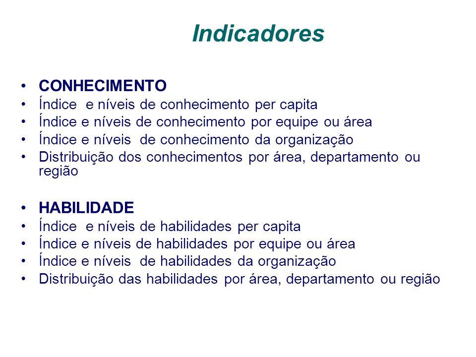 Indicadores CONHECIMENTO HABILIDADE