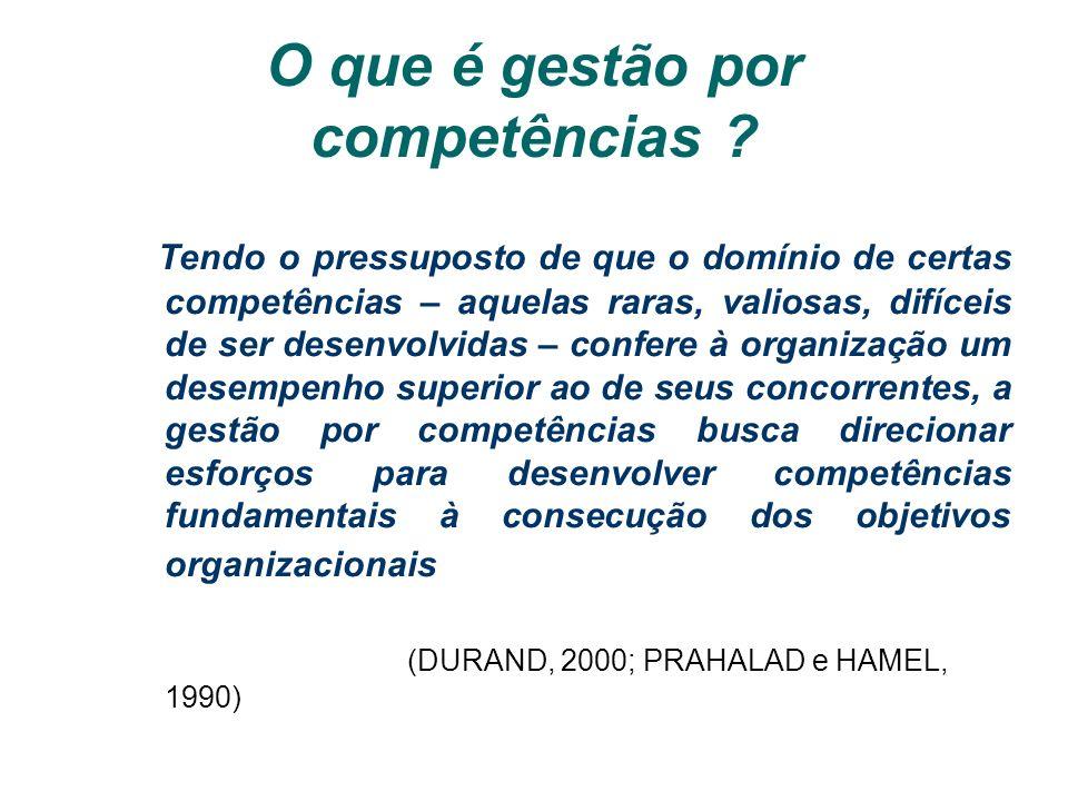 O que é gestão por competências
