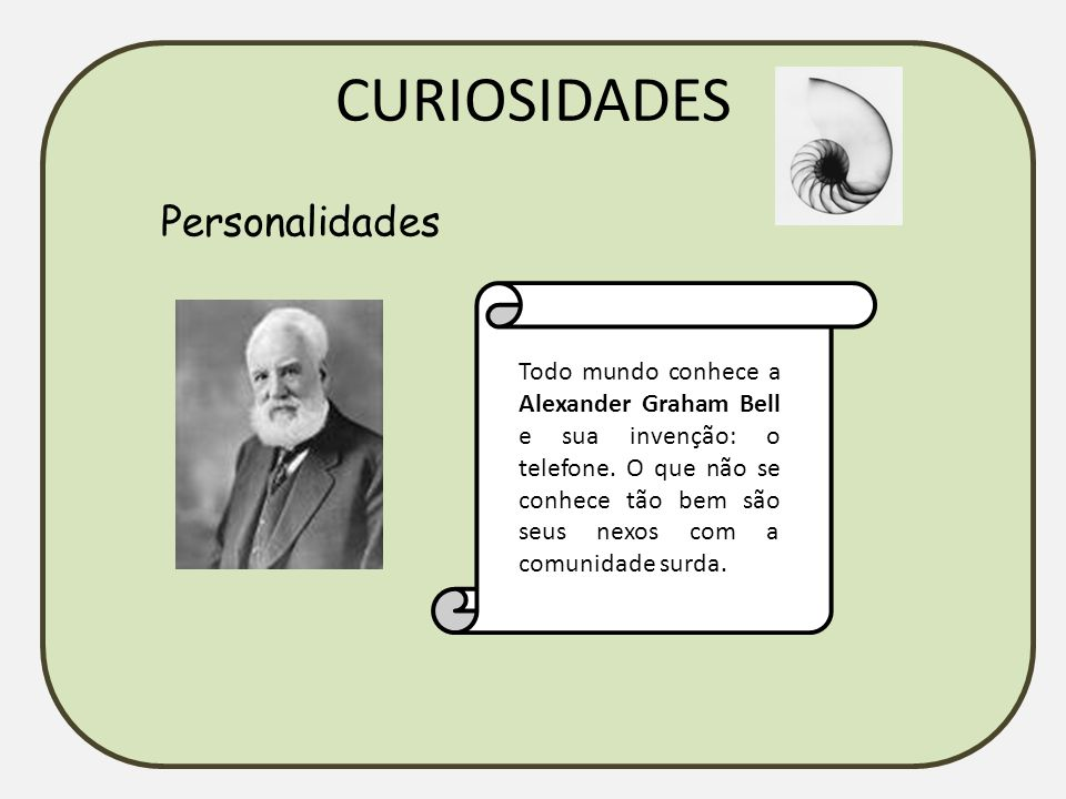 CURIOSIDADES Personalidades