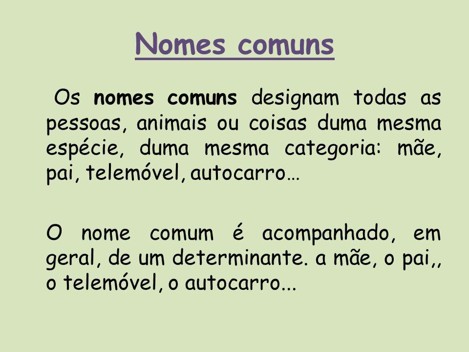 Nomes comuns