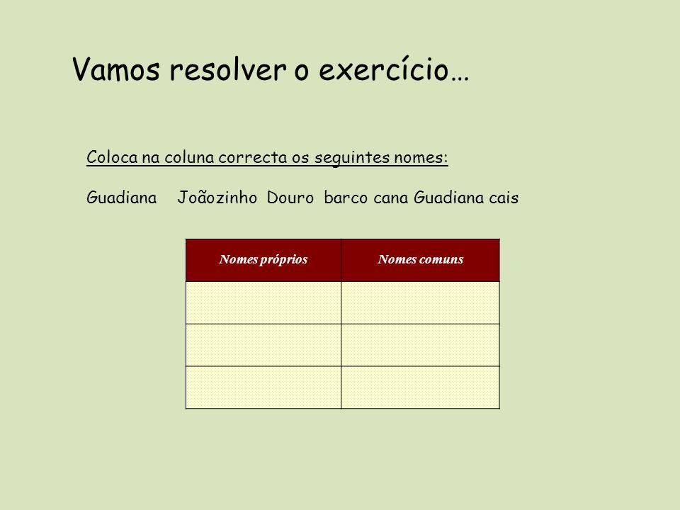 Vamos resolver o exercício…