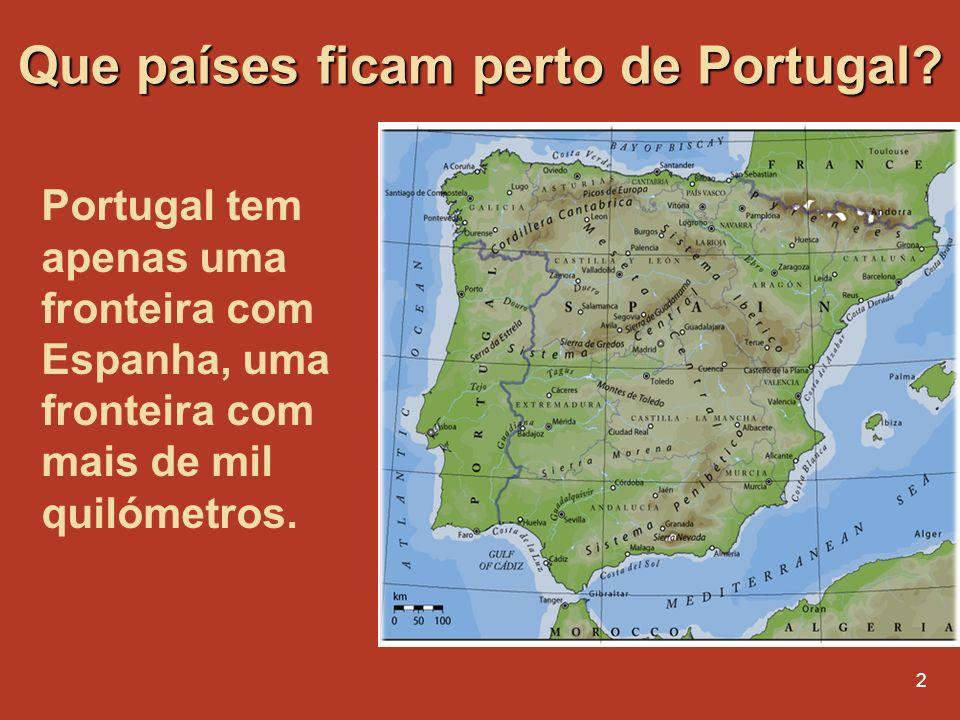 Que países ficam perto de Portugal