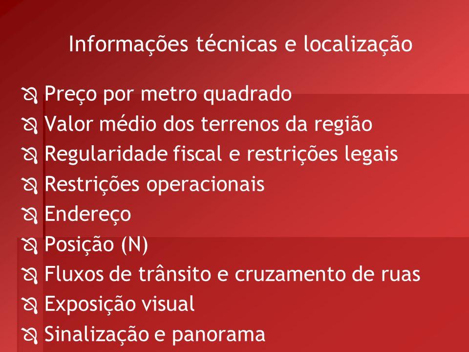 Informações técnicas e localização