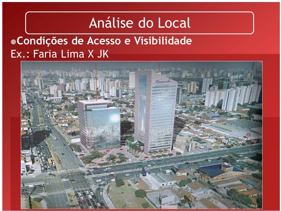 Análise do Local Condições de Acesso e Visibilidade Ex.: Faria Lima X JK