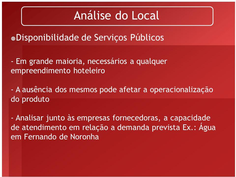 Análise do Local Disponibilidade de Serviços Públicos