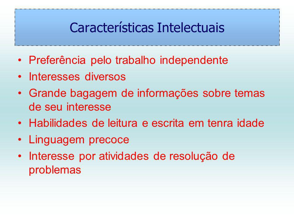 Características Intelectuais