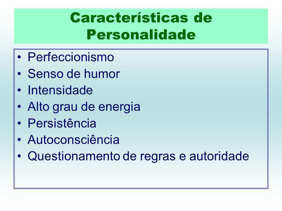 Características de Personalidade