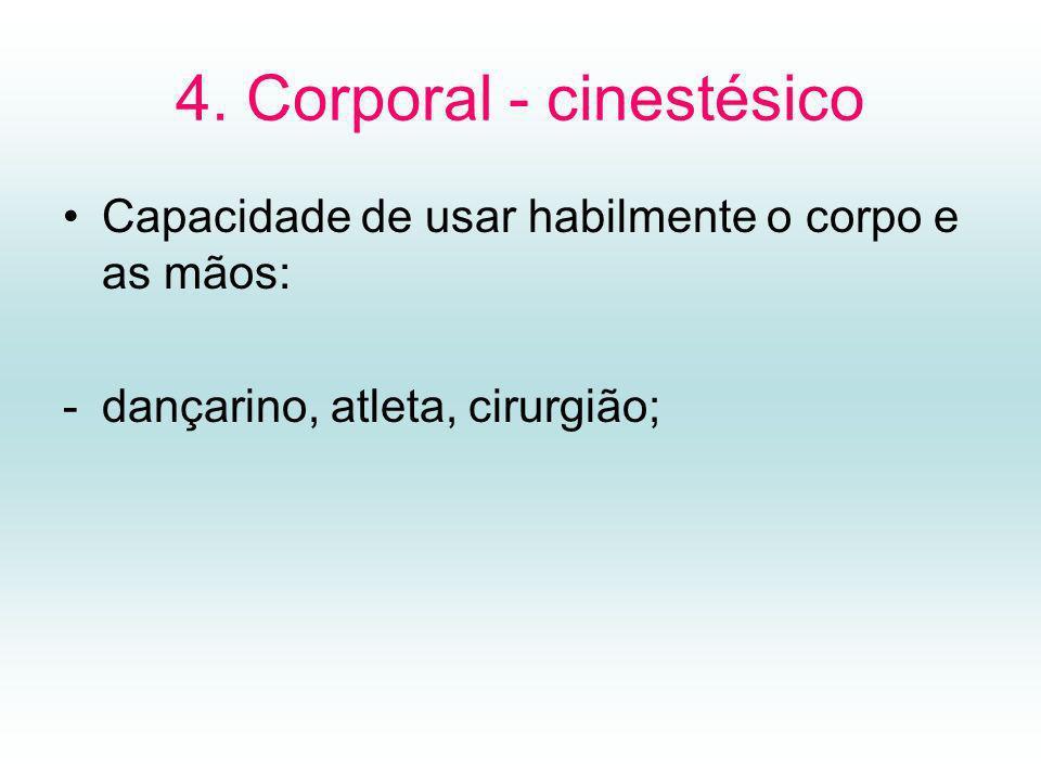 4. Corporal - cinestésico