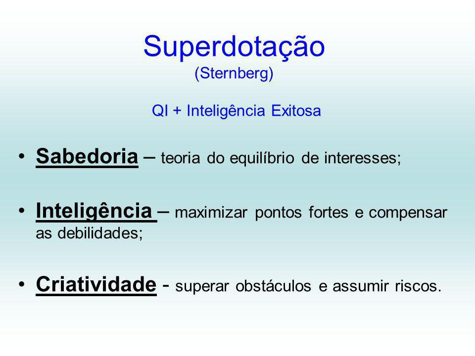 Superdotação (Sternberg) QI + Inteligência Exitosa