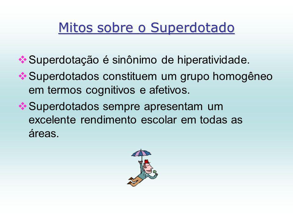 Mitos sobre o Superdotado