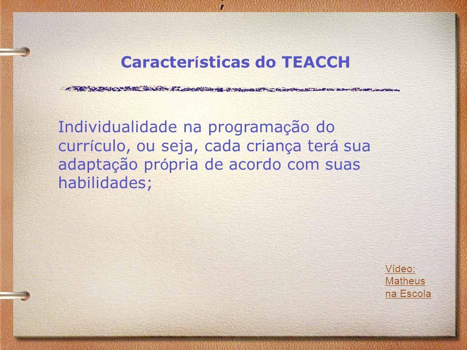 Características do TEACCH