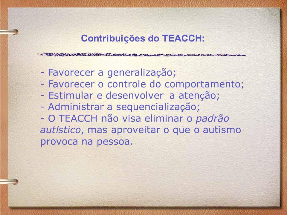 Contribuições do TEACCH: