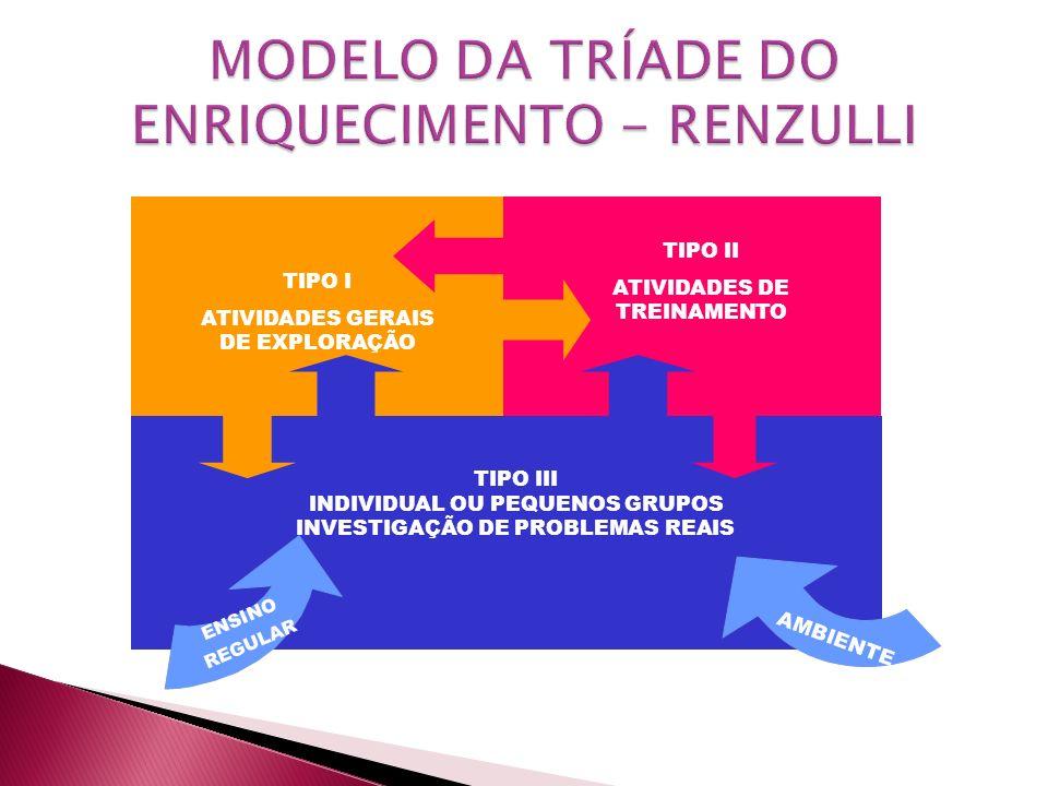 MODELO DA TRÍADE DO ENRIQUECIMENTO - RENZULLI