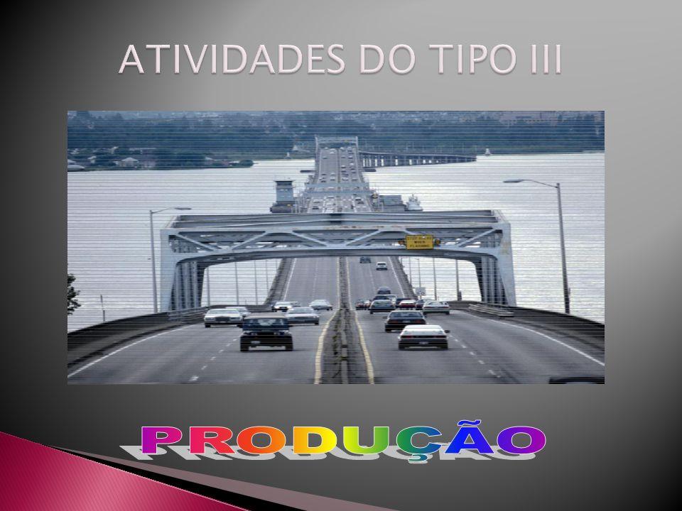 ATIVIDADES DO TIPO III PRODUÇÃO