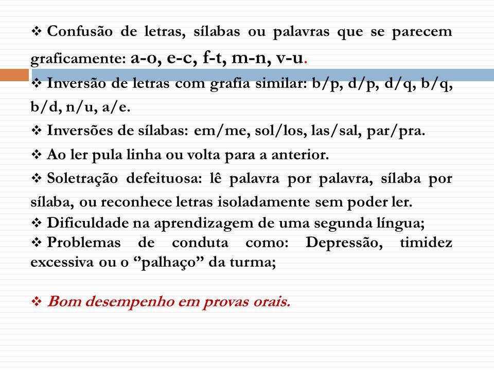 Inversões de sílabas: em/me, sol/los, las/sal, par/pra.