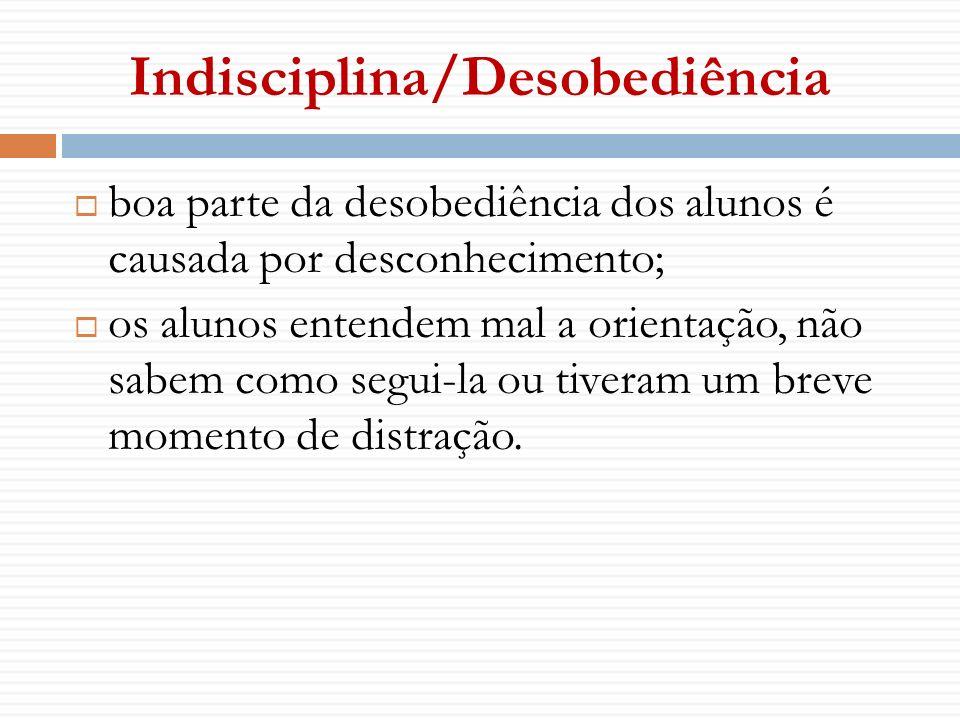 Indisciplina/Desobediência