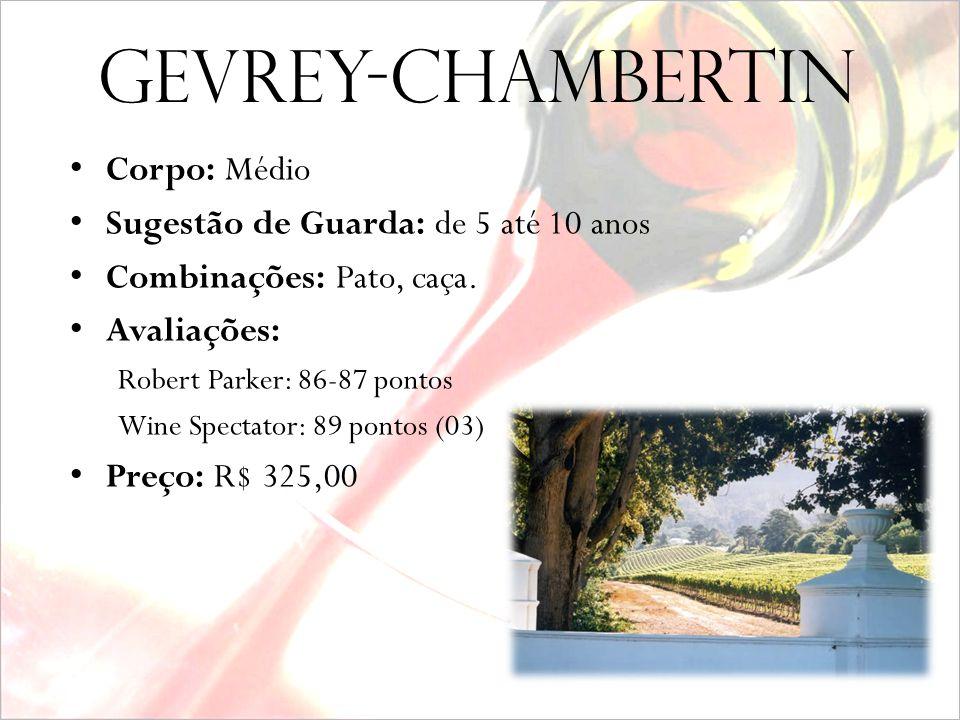 Gevrey-Chambertin Corpo: Médio Sugestão de Guarda: de 5 até 10 anos