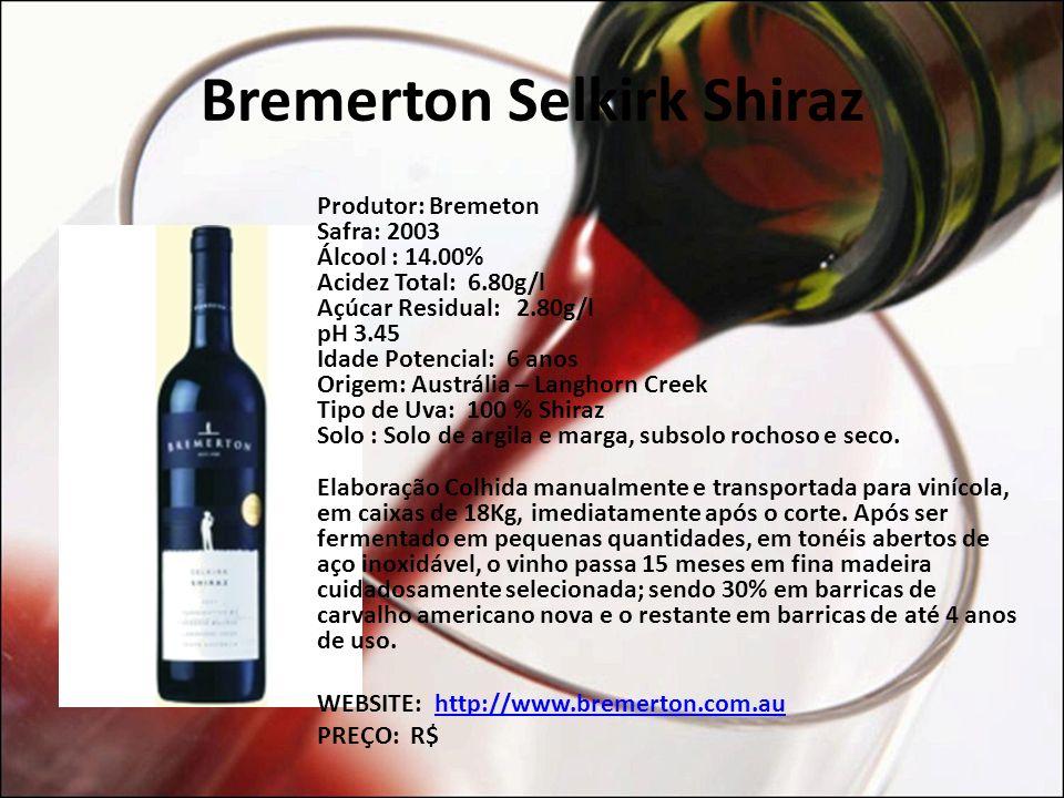 Bremerton Selkirk Shiraz
