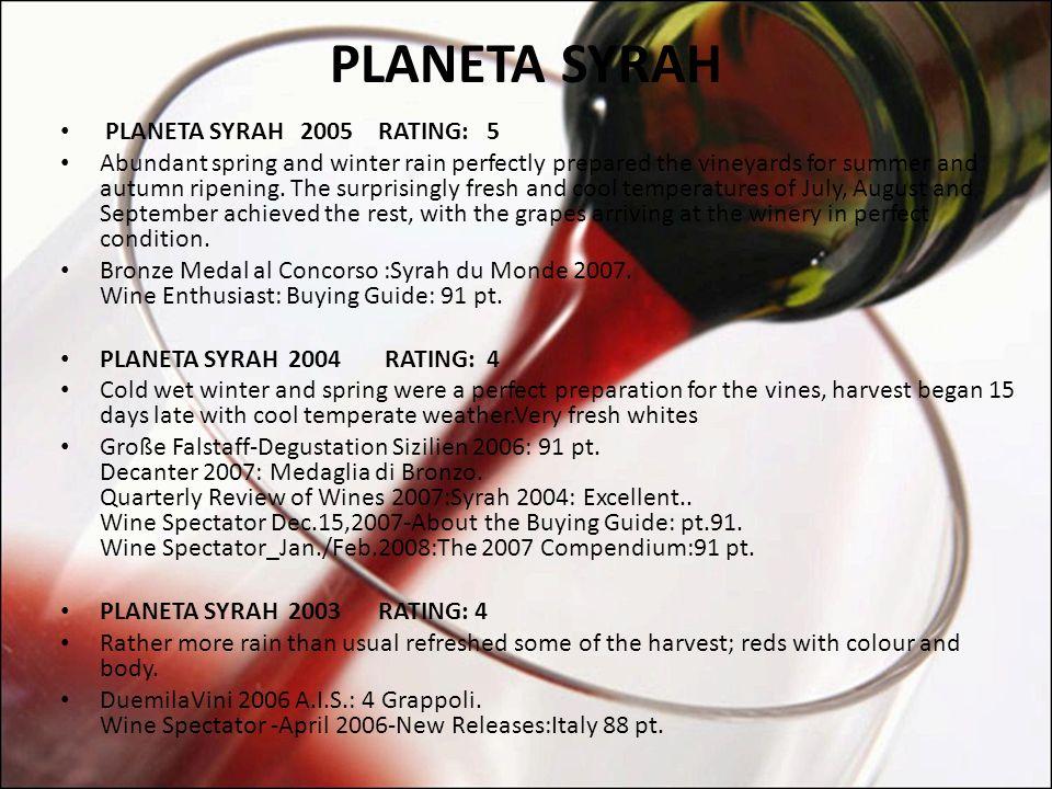 PLANETA SYRAH PLANETA SYRAH 2005 RATING: 5