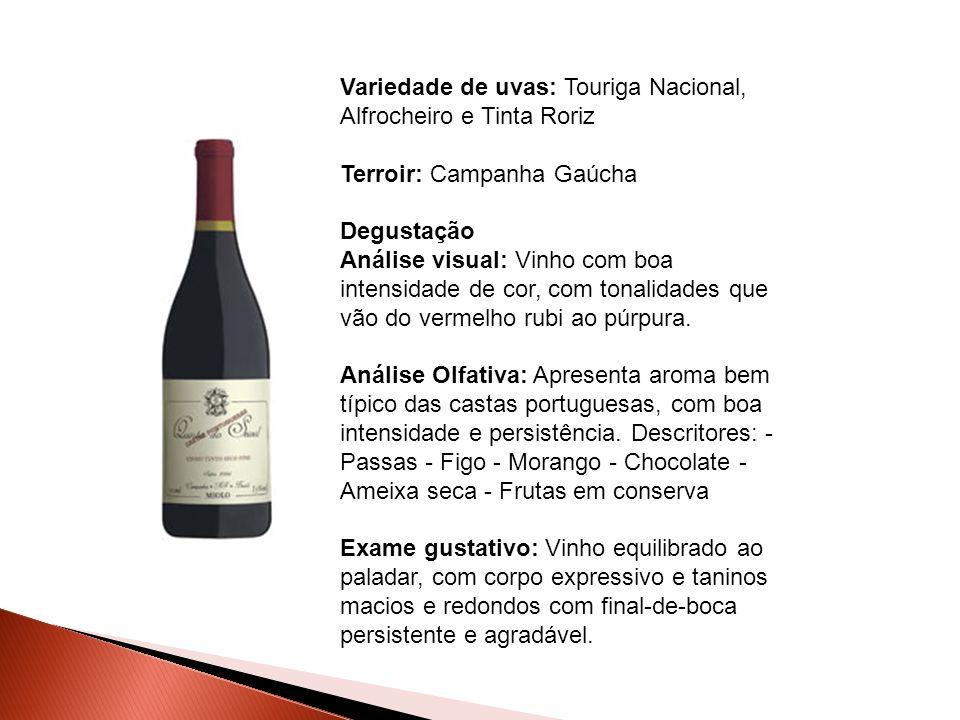 Variedade de uvas: Touriga Nacional, Alfrocheiro e Tinta Roriz