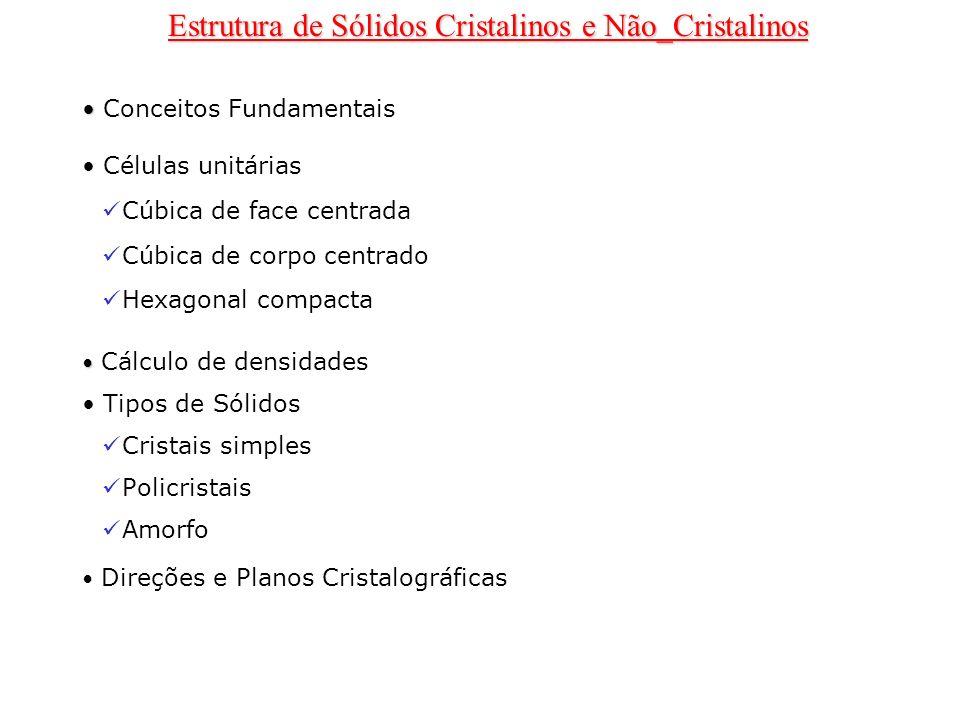 Estrutura de Sólidos Cristalinos e Não_Cristalinos