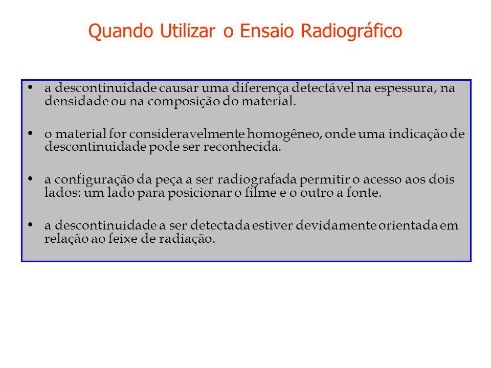 Quando Utilizar o Ensaio Radiográfico