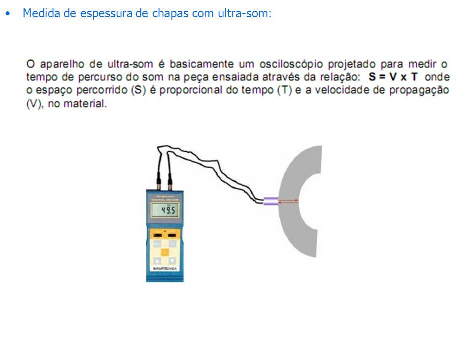Medida de espessura de chapas com ultra-som: