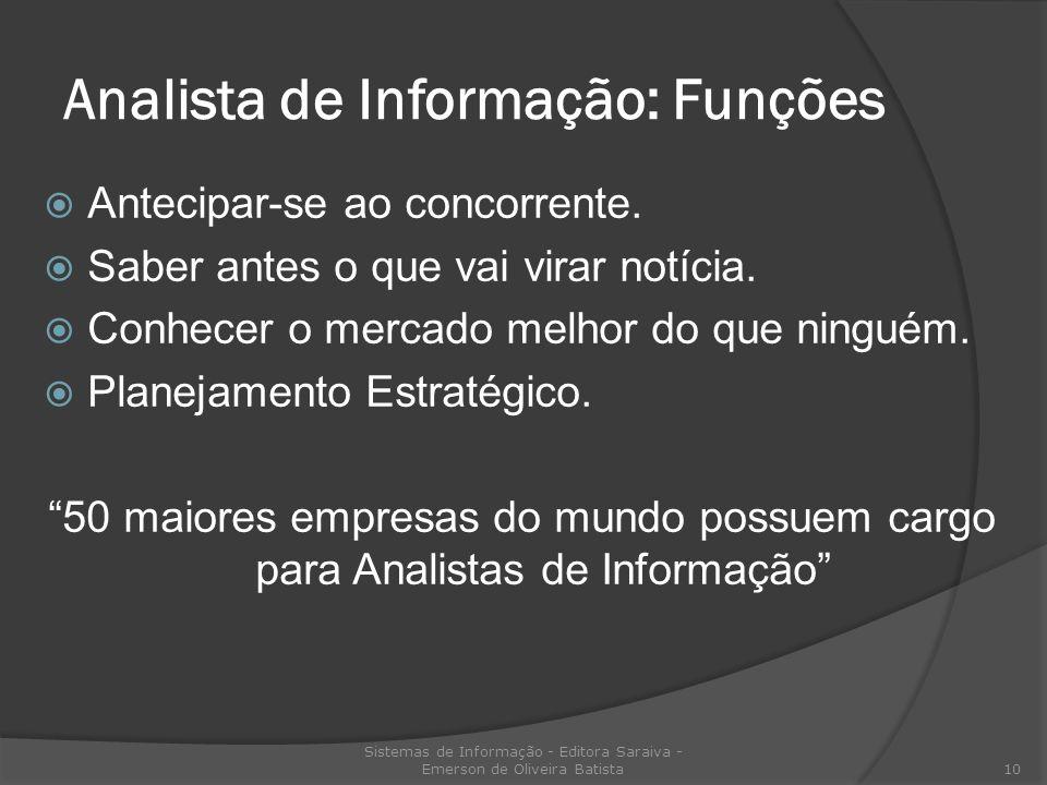 Analista de Informação: Funções