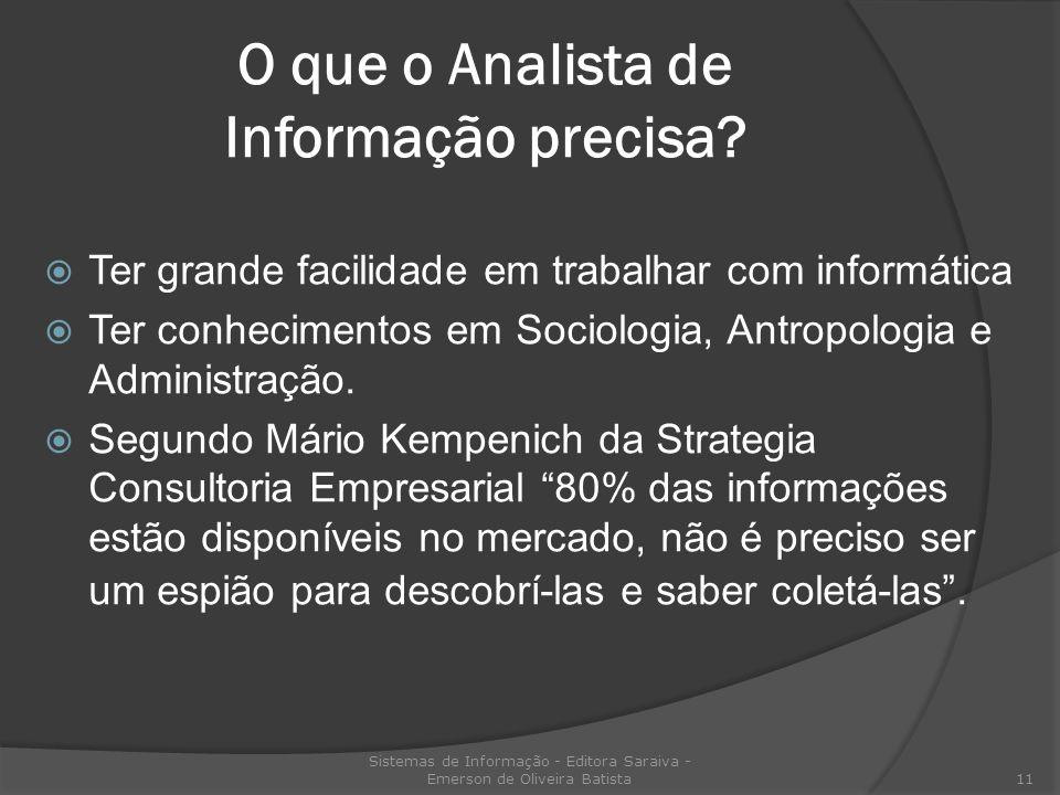 O que o Analista de Informação precisa