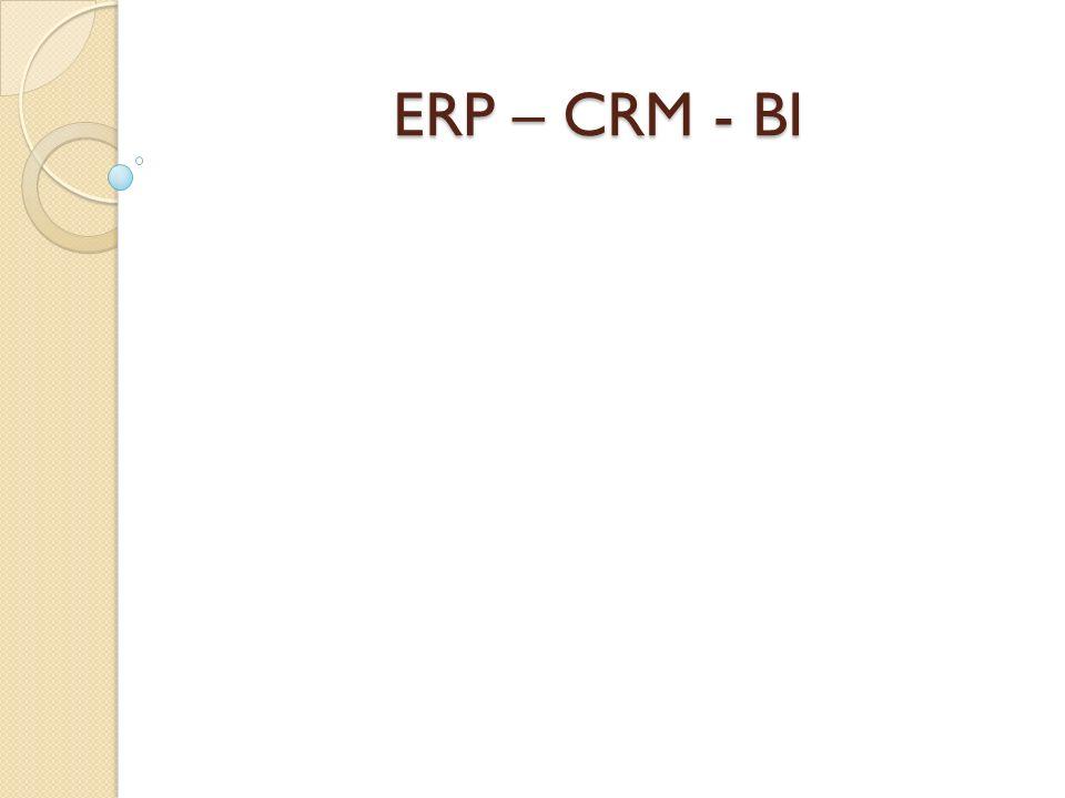 ERP – CRM - BI
