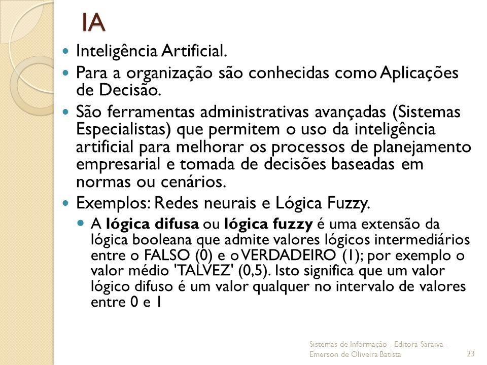 IA Inteligência Artificial.