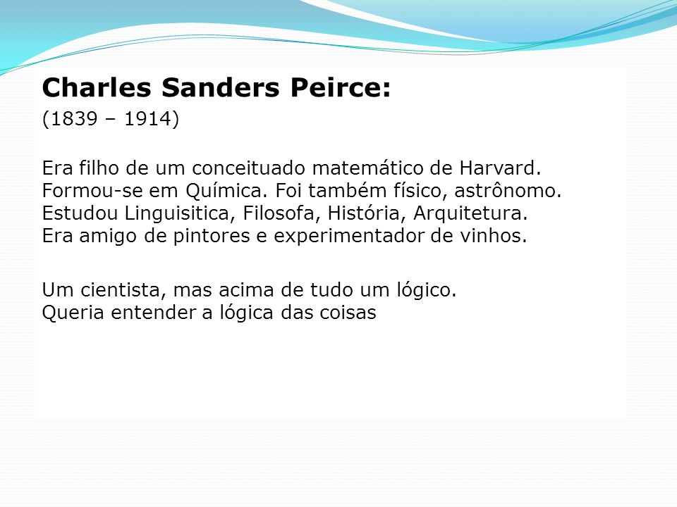 Charles Sanders Peirce: