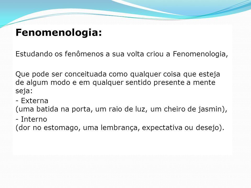 Fenomenologia: Estudando os fenômenos a sua volta criou a Fenomenologia,
