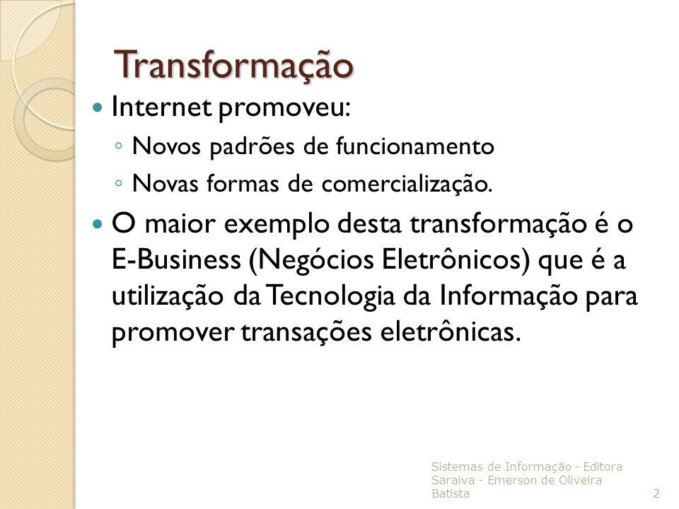 Transformação Internet promoveu: