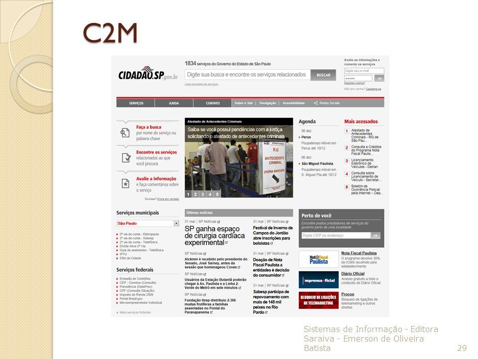 C2M Sistemas de Informação - Editora Saraiva - Emerson de Oliveira Batista