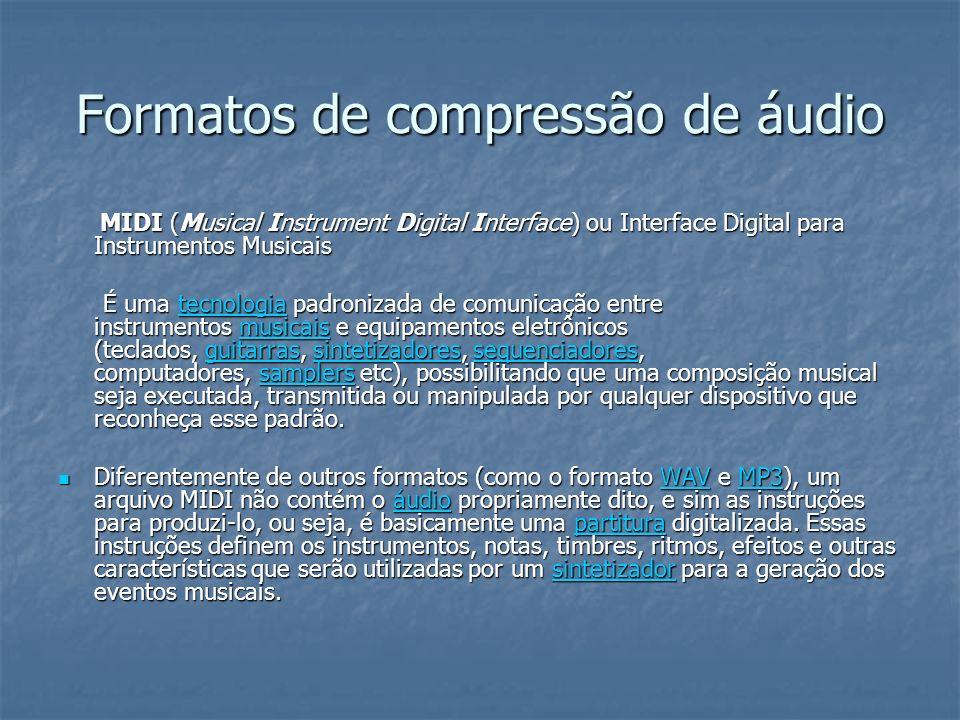 Formatos de compressão de áudio
