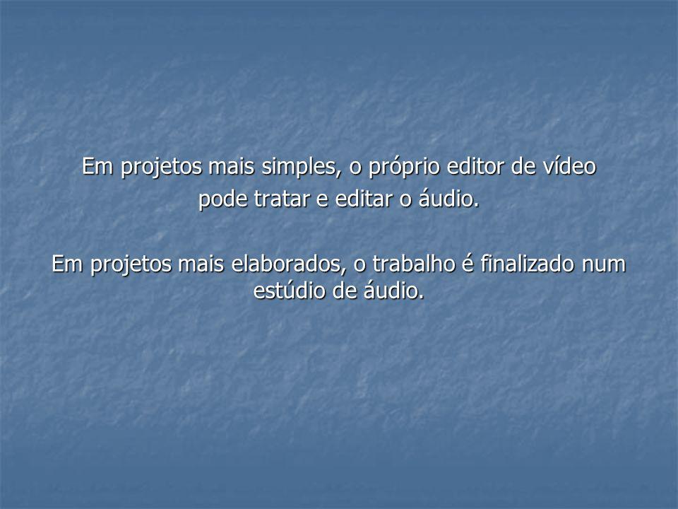 Em projetos mais simples, o próprio editor de vídeo