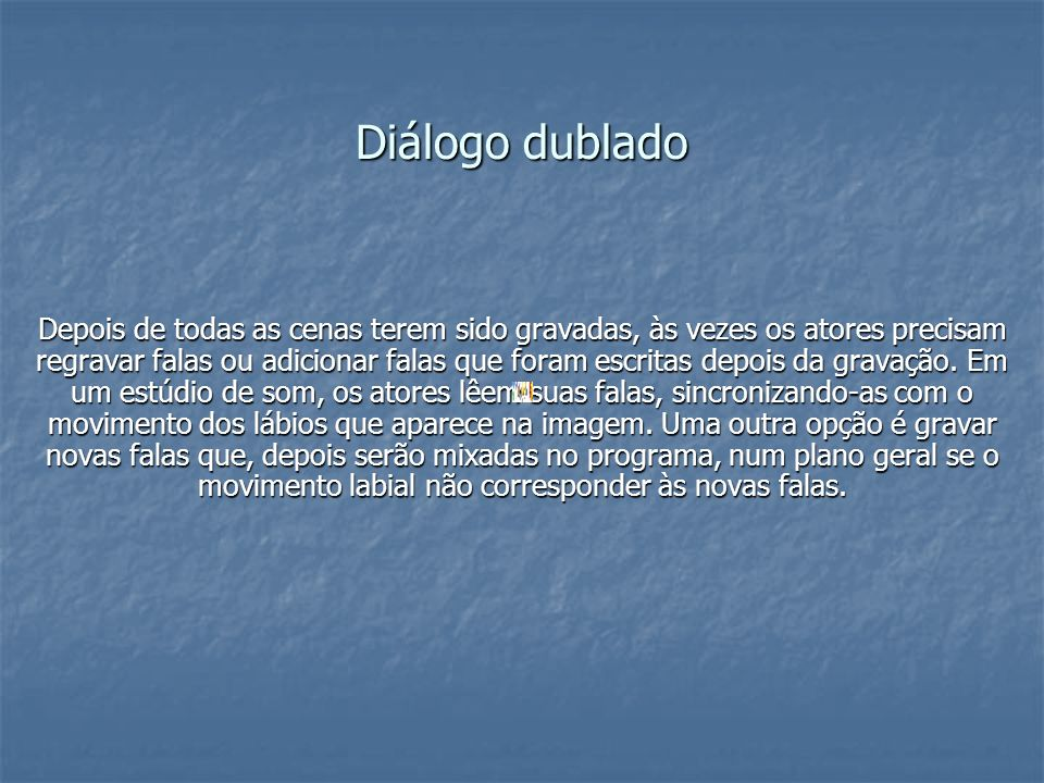 Diálogo dublado