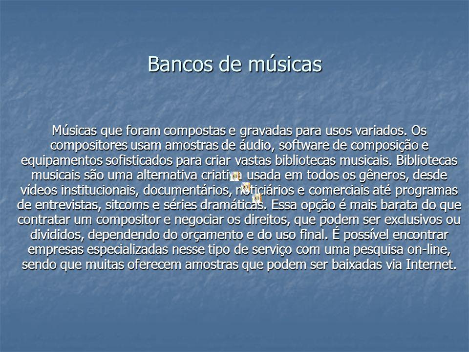 Bancos de músicas