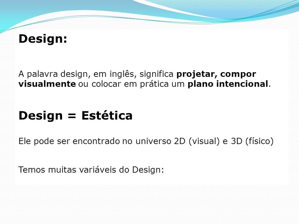 Design: Design = Estética