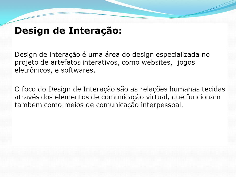 Design de Interação: