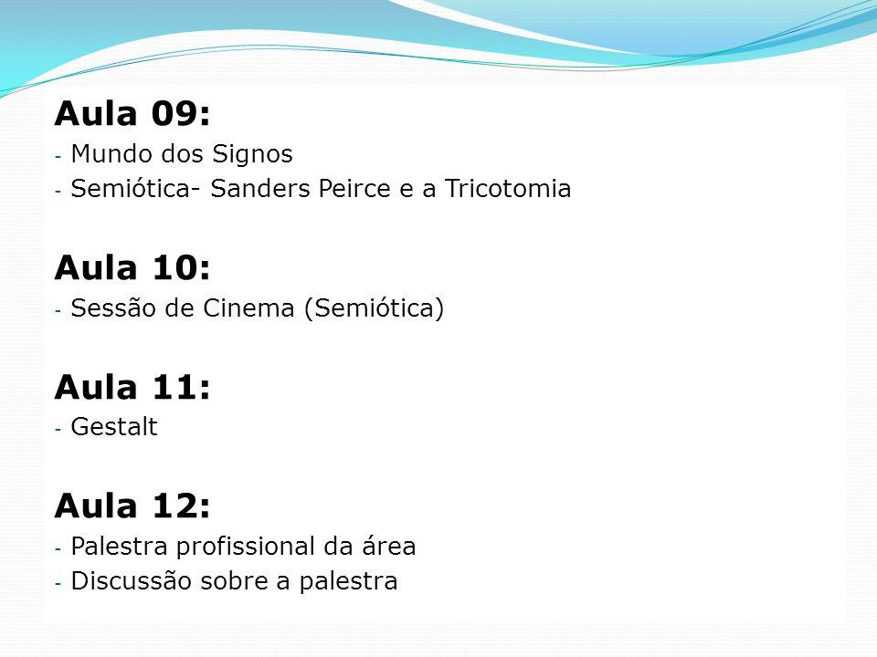 Aula 09: Aula 10: Aula 11: Aula 12: Mundo dos Signos