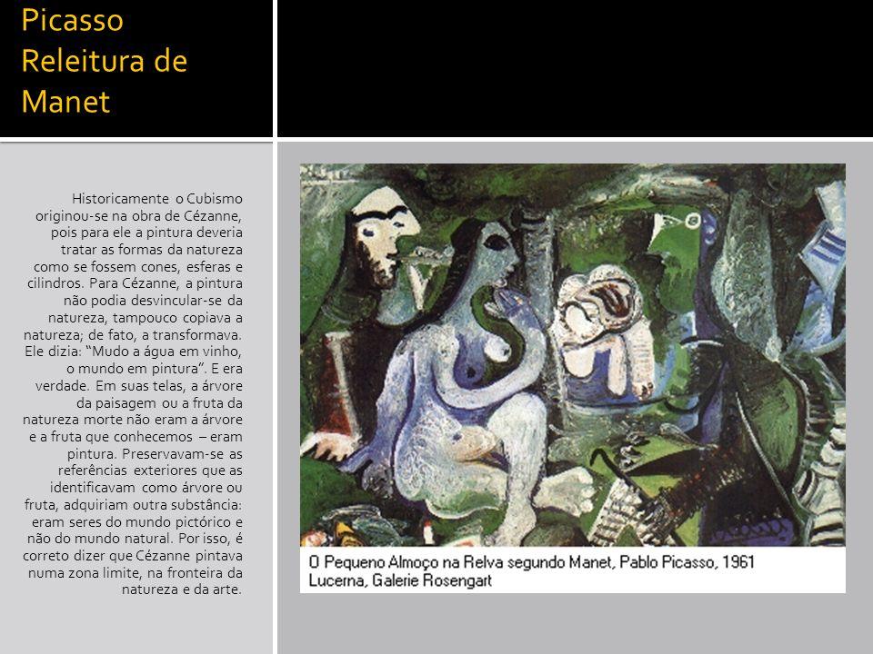 Picasso Releitura de Manet