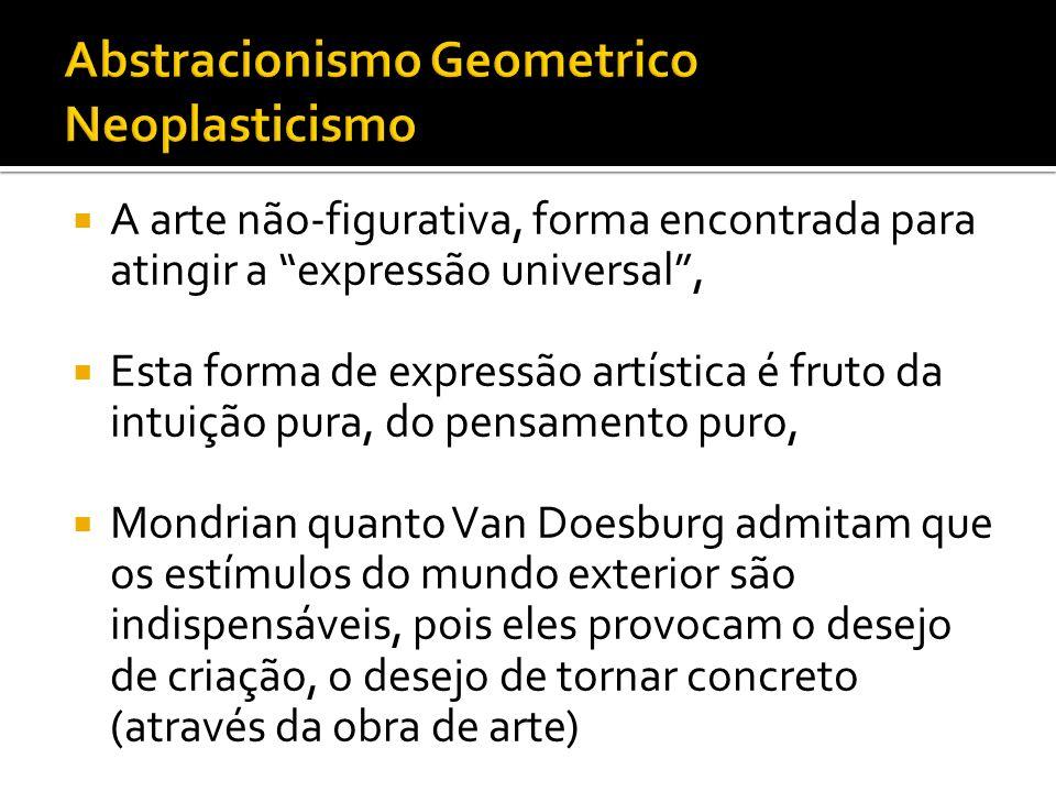 Abstracionismo Geometrico Neoplasticismo
