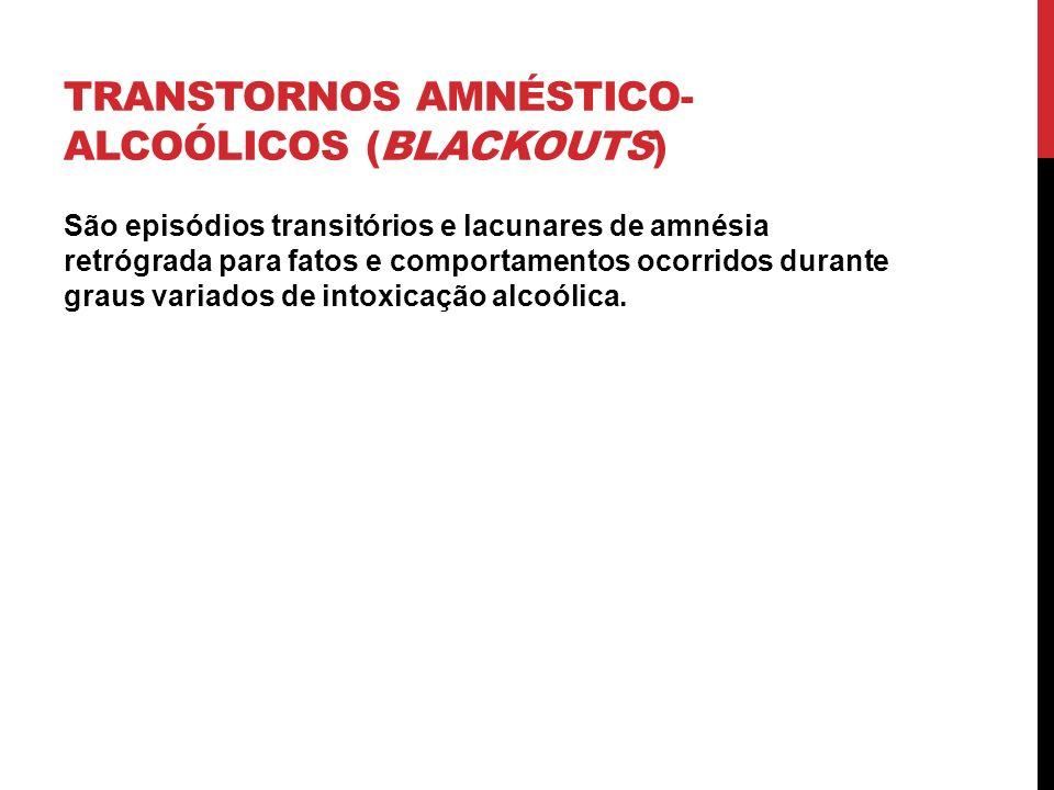 Transtornos amnéstico-alcoólicos (blackouts)
