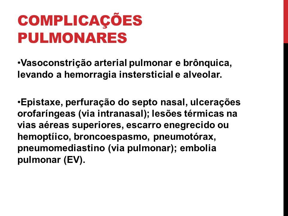 COMPLICAÇÕES PULMONARES