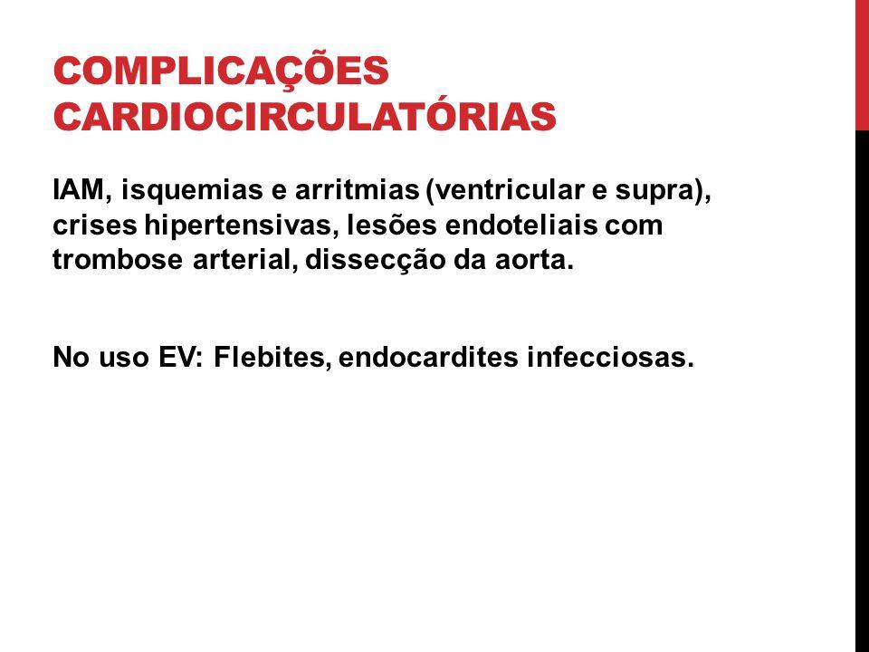 COMPLICAÇÕES CARDIOCIRCULATÓRIAS