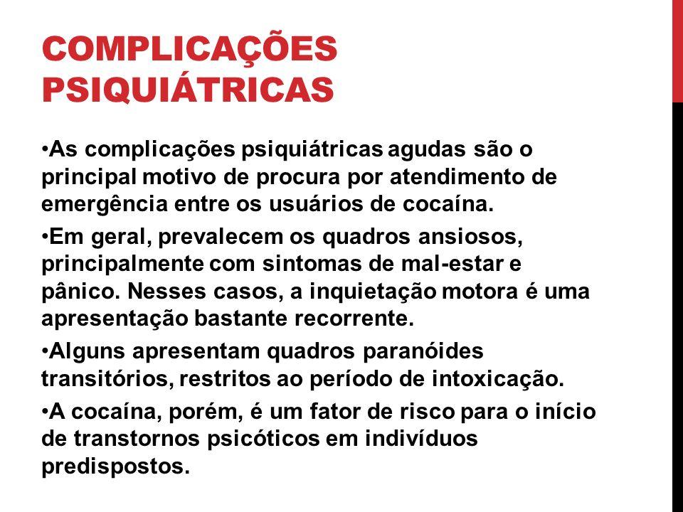 COMPLICAÇÕES PSIQUIÁTRICAS